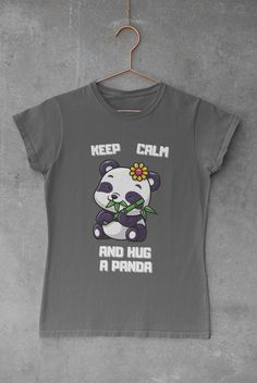Cute Panda T-Shirt Design Cute Panda, Funny Tshirts, Shirt Designs, Mens Tops, T Shirt, Fashion, Supreme T Shirt, Moda, Tee Shirt