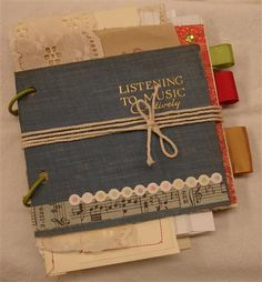 Upcycled Vintage Art Journal by adreamyday on Etsy