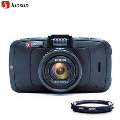 Junsun Mini Car DVR Camera Ambarella A7 with GPS Video Recorder Full HD 1296P Recorder Dashcam Black Box  US $89.66-117.66 /piece