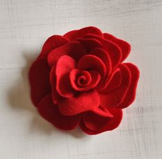 Felt Rose Brooch PDF Pattern Tutorial How To Rose by bedbuggs