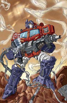 cartoons artwork Transformers - Optimus Prime by Javier Aranda and Fran Gamboa Cartoon Toys, Cartoon Art, Gi Joe, Dc Comics, Transformers Optimus Prime, Marvel, Classic Cartoons, Cultura Pop, Cyberpunk