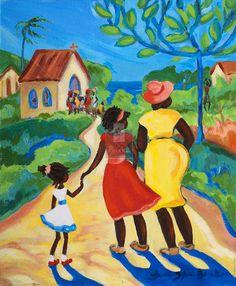 Caribbean Art   Landscapes   Janice Sylvia Brock