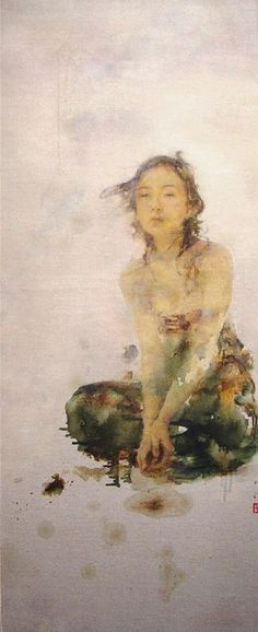 Kai Fine Art is an art website, shows painting and illustration works all over the world. Chinese Painting, Chinese Art, Figure Painting, Painting & Drawing, Hu Jun, Portrait Art, Portraits, Art Chinois, Traditional Paintings