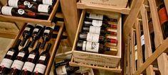 Revel Custom Wine Cellars sliding case drawers