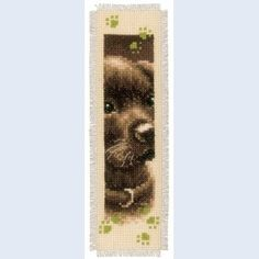 Cat and Dog: bladwijzer, te borduren in kruissteek met telpatroon