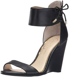 6ab0616ac41e Jessica Simpson Womens Breeley Wedge Sandal Black 8 M US    Visit the image  link