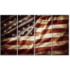 DesignArt American Flag Contemporary 4 Piece Graphic Art on Wrapped Canvas Set Red Wall Decor, Red Wall Art, Vinyl Wall Art, Home Wall Art, Wall Decorations, Wall Décor, Contemporary Metal Wall Art, Unique Wall Art, Thing 1