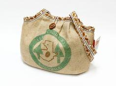 Recycled burlap coffee sack bag from EllaOsix by DaWanda.com