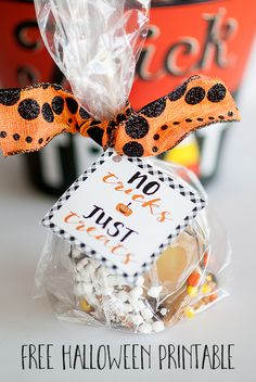 No Tricks just Treats- Free Printable