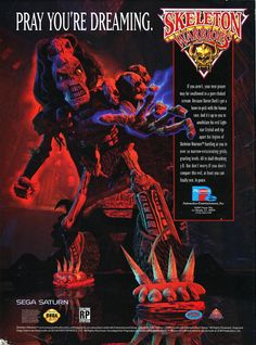 Skeleton Warriors Sega Saturn ad
