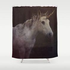 Unicorn Shower Curtain - Horse - Unicorn - Art Photography - Bathroom Decor - Fantasy Shower Curtain -Made to Order (136.00 USD) by ShelleysCrochetOle