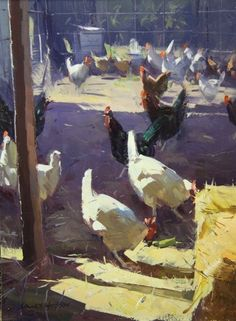 Colley Whisson   Afternoon Activities, Oil 10'' x 7'' TN