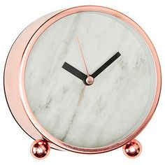 This Lisa T rose gold metal desk clock is a decorative and stylish addition for your home. combine it with our range of Lisa T designed decor for a...