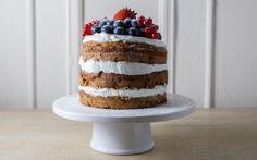 First birthday Honey Oat Smash Cake with Yogurt Frosting