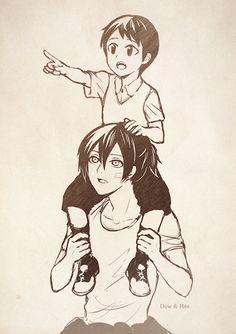 Yato and little Ebisu | Noragami
