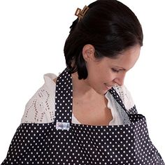 Nursing Cover *100% Cotton Top Quality* 'Breastfeeding Covers' Nursing Apron Boned Nursing Tops - Gift For New Moms + Storage Bag (Black Dots) Dazoriginal http://www.amazon.co.uk/dp/B00N6RAIH4/ref=cm_sw_r_pi_dp_YYR3vb10TKEQH