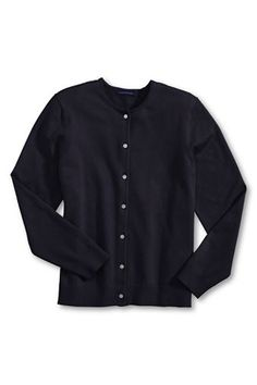 Lands' End cotton cardigans are a great thing!  I own this one in navy, black and brown.  Can't have too many!