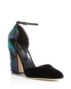 745.00$  Watch now - http://viagg.justgood.pw/vig/item.php?t=uiw5lk11607 - Sergio Rossi Chantal Embellished d'Orsay Ankle Strap Pumps