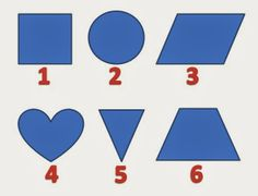 Here are some Mathematical shapes given the the picture puzzle image. Can you tell logically which is the Odd One Out among these six picture? Mathematical Shapes, The Odd Ones Out, Shape Pictures, Picture Puzzles, Puzzles For Kids, Brain Teasers, Riddles, Playing Cards, Challenges