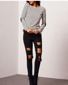 Black Slim Ripped Denim. To place your orders log on to our website.