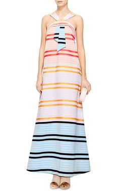Neon Striped Maxi Dress by Suno - Moda Operandi