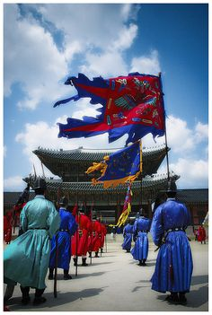 Standing Guard . Seoul South Korea