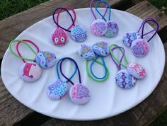 {button love} :: twit twoo hair ties