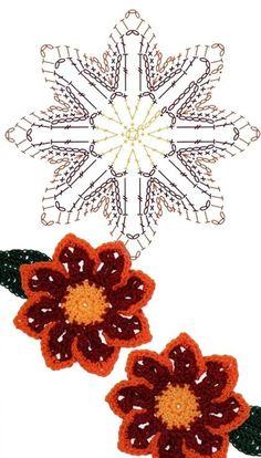 No.52 Gazania Crochet Flower Motifs / 가자니아 코바늘 플라워 모티브도안