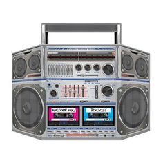 We Like The Boom Box Stand Up Prop Decoration 80's Party Hip Hop | eBay