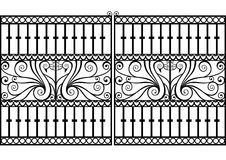 Wrought iron fence or gate. Wrought iron fence or gate with peacock o , Iron Fence Gate, Wrought Iron Fences, Modern Window Design, Modern Design, Gate Pictures, House Gate Design, Grill Design, Stock Foto, Metal Art