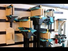 (26) French Cleat Clamp Rack für Einhandzwingen / Platzsparend aufhängen - diy - YouTube