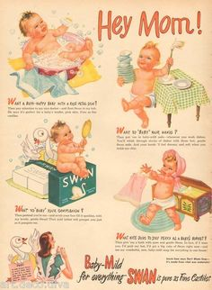 Vintage Ad for 1945 Swan Soap Advertisement Life Magazine April 23 Items for your Baby, Vintage Baby Ad Retro Advertising, Retro Ads, Vintage Advertisements, Vintage Ads, Vintage Prints, Vintage Newspaper, Poster Vintage, Advertising Signs, Vintage Patterns