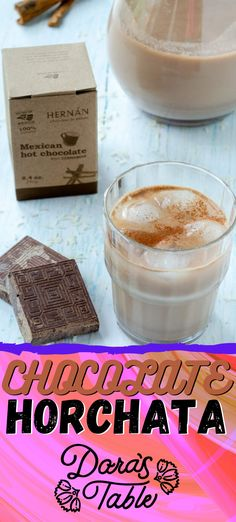 This Mexican chocolate horchata is the prefect drink to cooldown this summer. The traditional combination of soaked rice and milk is givenan upgrade with this artisanal Mexican chocolate tablillas from Hernan.  #mexicangonevegan #horchata #chocolate #mexican #vegan #dairyfree #nutfree #glutenfree Hot Tea Recipes, Sugar Free Recipes, Horchata, Vegan Mexican Recipes, Delicious Vegan Recipes, Vegan Shakes, Peach Lemonade, Plant Based Breakfast, Mexican Hot Chocolate