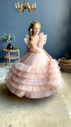 Party Dresses For Girls, Baby Girl Dresses Diy, Baby Girl Birthday Dress, Baby Girl Dress Patterns, Gowns For Girls, Little Girl Dresses, Flower Girl Dresses, Belle Dress Kids, Princess Dress Kids