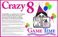 """Are your students turning When were you first introduced to the """"Crazy card game -- was it in grade? This image includes the rules. See mugs and more with the image at my cafepress DesignClass shop. Crazy 8, Card Games, Turning, Students, Eye, Mugs, Shop, Cards, Gifts"""
