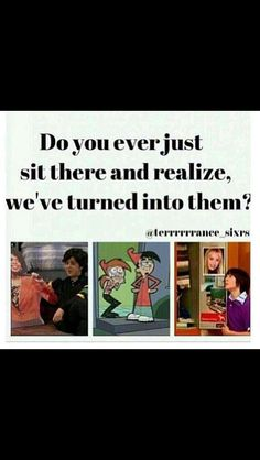 omg yes, i always thought they were so weird...and now im just like them. oops.