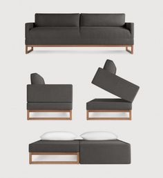 College futons begone: 6 fashionable sofabeds for NYC apartments. Diplomat Sofa from Blu Dot.