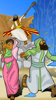 """Wonder what those Hebrews were thinking?! """"Then Moses stretched out his hand over the sea, and God drove the sea back by a strong east wind all night and made the sea dry land... And the Israelites went into the midst of the sea on dry ground, the waters being a wall to them on their right hand and on their left."""" (Ex 14:21-22)"""