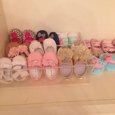 Diy baby shoe rack! Just use a plastic drawer organizer!