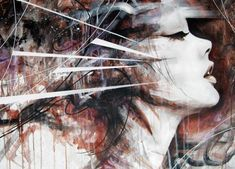 Every step of the way - Abstract Portrait Paintings by Uk based painter Danny O'Connor. Danny graduated from Liverpool's John Moores Art School where he studied Graphic Arts. Inspired by Comics, Illustration, Tattoo art and Graffiti, he created the amazing figurative portrait paintings using Acrylic and Correction Fluid on Canvas.