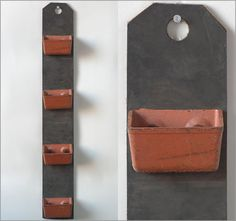 Rubber and iron conveyor belt wall pockets, brown