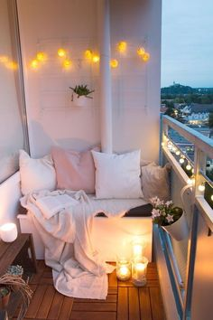 Diy, room decor and some other ideas tiny balcony, small balcony decor, small Apartment Balconies, Cozy Apartment, Apartment Living, Bedroom Apartment, Living Rooms, Cheap Apartment, Apartment Design, Apartment Ideas College, 1st Apartment