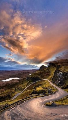 Isle of Skye, Scotland | Awesome photo by John Finney of Sunrise over North Skye, Quiraing | The Quiraing is a landslip on the eastern face of Meall na Suiramach, the northernmost summit of the Trotternish on the Isle of Skye, Scotland.