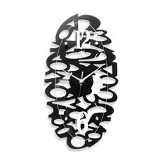Infinity Instruments Whimsy Black Wall Clock