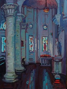 """Sacred Heart Interior,"" by Rene Wiley"