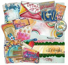 CD Muckosky -- Journal Junkie: All That Is Good -- at The Lilypad  // These are gorgeous! I love the message and the bright colors!!