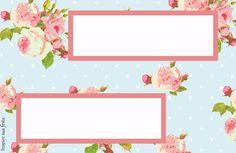Placa de mesa floral