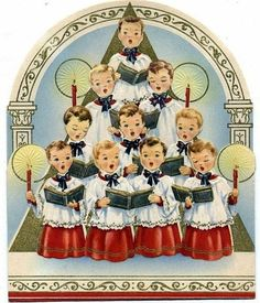 anges de noel chantent