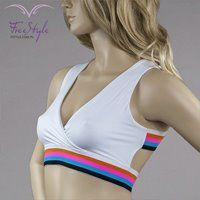 RAINBOW TOP WHITE #moda  #fitnessfashion #top #free_style #girl #fashion #sexy #like #fitness