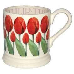 """Flowers"" Tulip 1/2 Pint Mug at Emma Bridgewater"